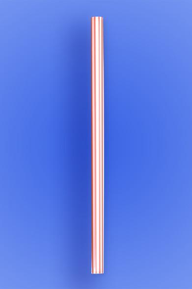 "JUMBO STRAW 10.25"" - RED STRIPES - 30/250 (7,500/case)"