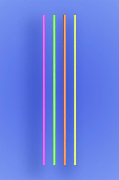 """SLIM COCKTAIL/STIR STRAW 5.25"""" - NEON - 10/1000 (10,000/case)"""