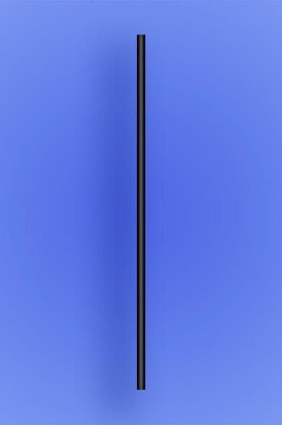 "SEMI-SLIM COCKTAIL/STIR STRAW 5.5""  - BLACK  - 10/500 (5,000/case)"