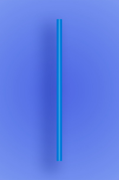 "JUMBO COCKTAIL STRAW 5.5"" - BLUE - 30/250 (7,500/case)"
