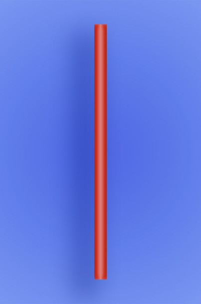 "GIANT COCKTAIL STRAW 5.5"" - RED - 10/150 (1,500/case)"