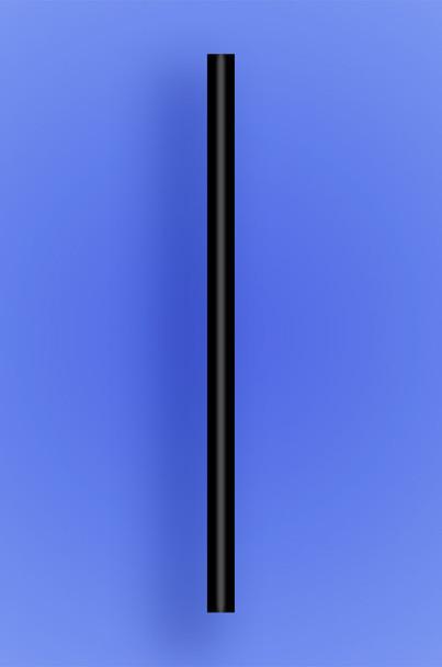 "GIANT STRAW 7.75"" - BLACK - 10/150  (1,500/case)"