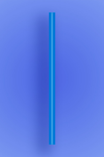 "GIANT STRAW 7.75"" - BLUE - 10/150 (1,500/case)"
