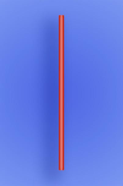 "JUMBO STRAW 7.75"" - RED - 10/250  (2,500/case)"