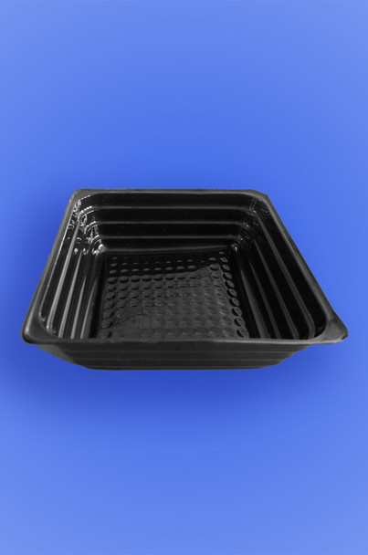 "PORTION TRAY 3.5"" x 3.5"" x 1"" - BLACK - 2,500/CASE"