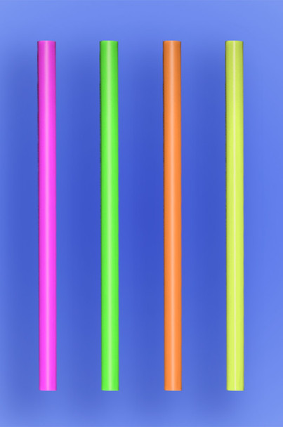 """GIANT COCKTAIL STRAW 5.5"""" - NEON - 10/150 (1,500/case)"""