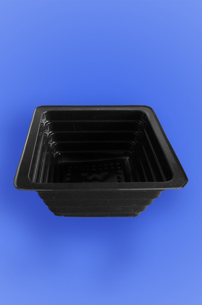 "PORTION TRAY 3.5"" x 1.5"" - BLACK - 2,500/CASE"