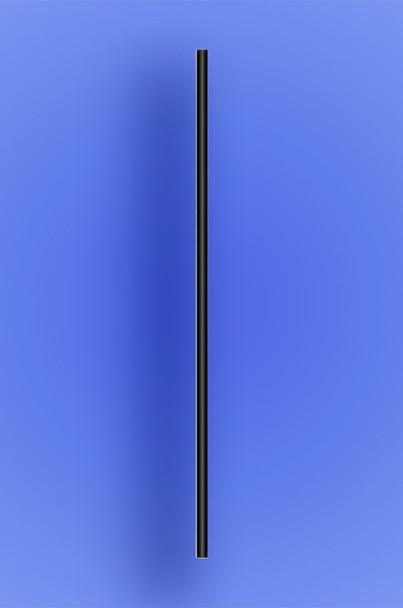 """SEMI-SLIM COCKTAIL STRAW 7.75"""" - BLACK - 10/500 (5,000/case)"""