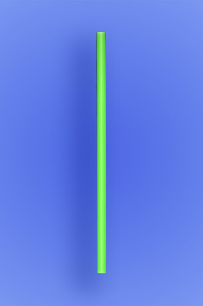"JUMBO COCKTAIL STRAW 5.5"" - NEON GREEN - 30/250 (7,500/case)"