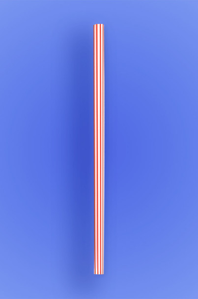 Giant Straw with Red Stripes