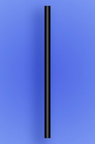 "GIANT STRAW 10.25"" - BLACK - 30/150 (4,500/case)"