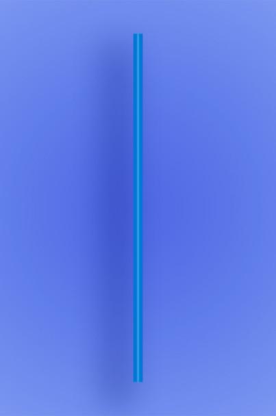 "SEMI-SLIM COCKTAIL/STIR STRAW 5.5"" - BLUE - 10/500 (5,000/case)"