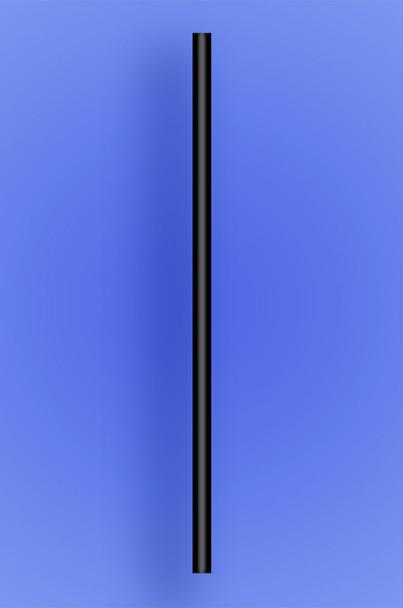 "JUMBO STRAW 10.25"" - BLACK - 4/750 (3,000/case)"