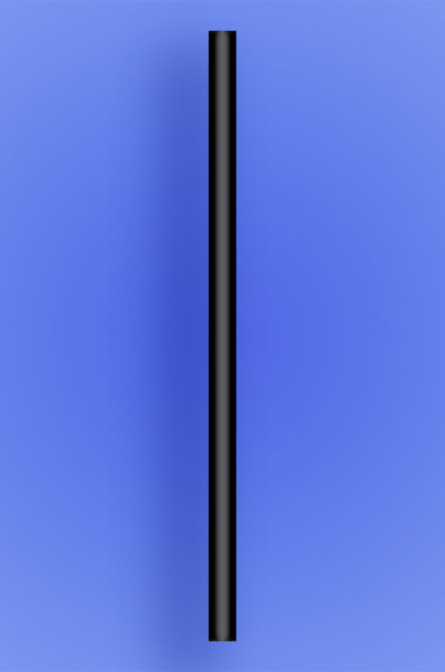 "GIANT STRAW 10.25"" - BLACK - 10/150 (1,500/case)"