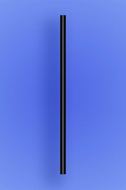 "JUMBO STRAW 7.75"" - BLACK - 10/250 (2,500/case)"