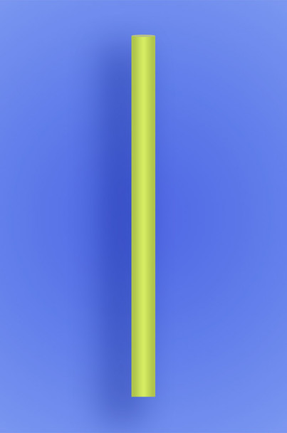 """COLOSSAL STRAW 8.5"""" - NEON YELLOW - 1/1000 (1,000/case)"""