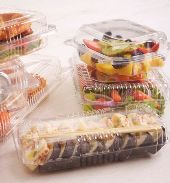HINGED LID DELI CONTAINER - TALL SQUARED - 500/CASE