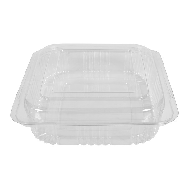 HINGED LID DELI CONTAINER - SHORT SQUARED - 500/CASE
