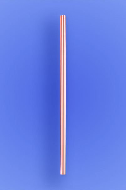 "JUMBO STRAW 7.75"" - RED STRIPES - 10/250 (2,500/case)"