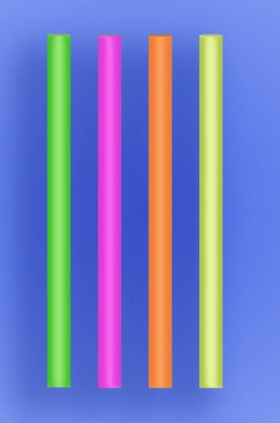 """COLOSSAL STRAW 8.5"""" - NEON - 2/650 (1,300/case)"""
