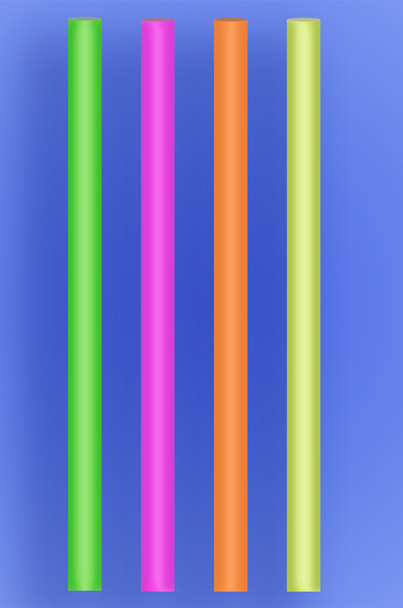 """COLOSSAL STRAW 12"""" - NEON - 2/600 (1,200/case)"""