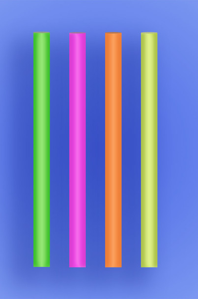 """COLOSSAL STRAW 6"""" - NEON - 3/400 (1,200/case)"""