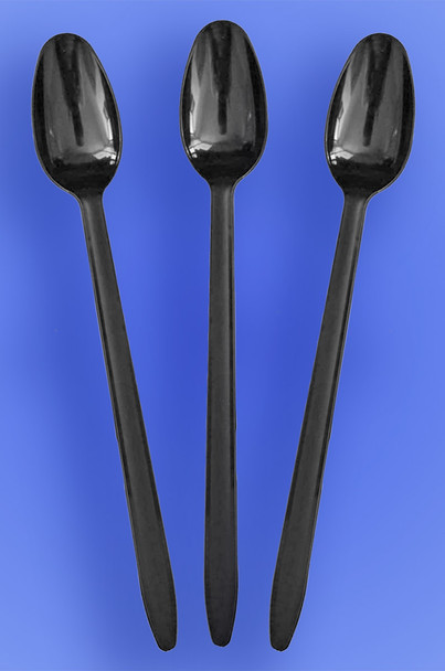 """8"""" Long Black Soda Spoon"""