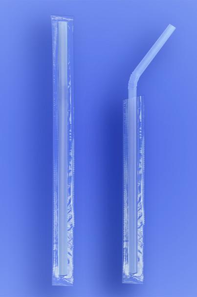 Wrapped Clear Flexi Straw
