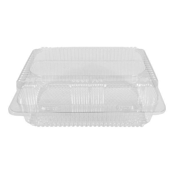 """HINGED LID DELI CONTAINER 7"""" x 10"""" - 4"""" TALL  - 250/CASE"""