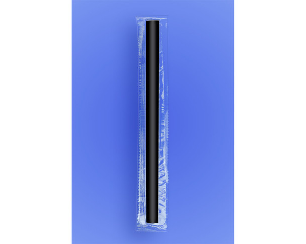 """COLOSSAL STRAW 8.5"""" - CELO WRAPPED - BLACK - 2/650 (1,300/case)"""