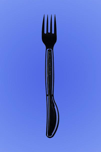 SNAP CUTLERY - FORKNIFE - BLACK PS - 6/100 (600/case)