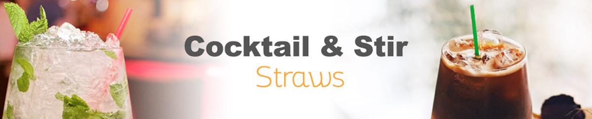 WoW cocktail & stir straws