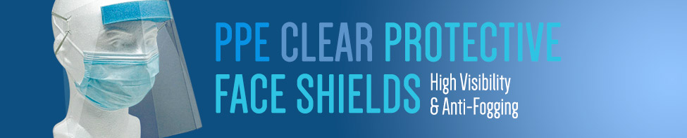 WoW Clear Protective Plastic Face Shields