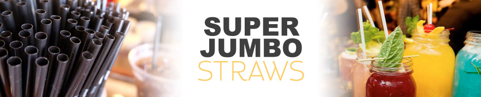WoW super jumbo plastic straws