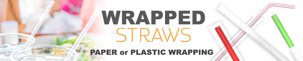 WoW wrapped plastic straws