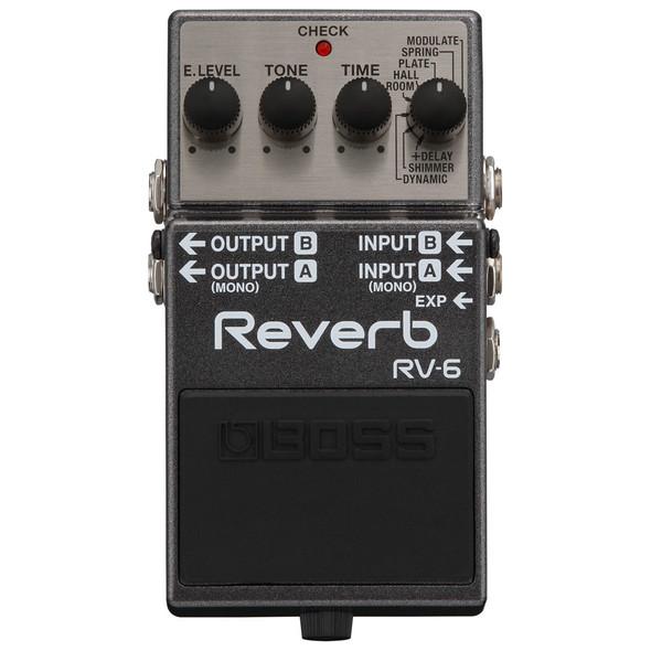 Boss RV-6 Digital Reverb Stereo Guitar Effects Pedal