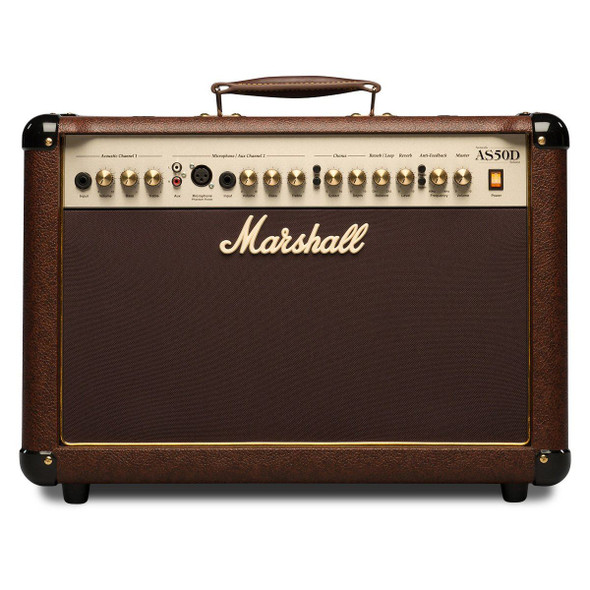 """Marshall AS50D 50W 2x8"""" Acoustic Soloist Combo with Digital Chorus & Reverb"""