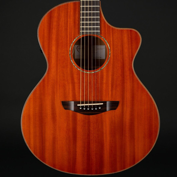 Faith Mahogany Gloss Neptune Electro Acoustic Cutaway in Mahogany with Case