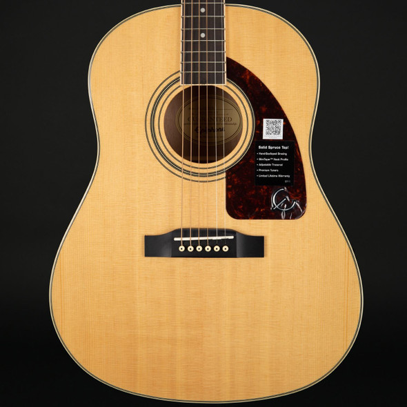Epiphone AJ-220S Solid Top Acoustic Guitar in Natural