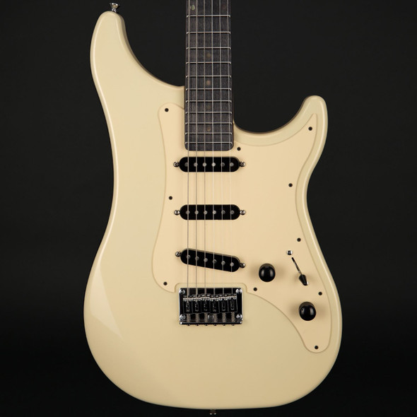 Vigier Expert Retro '54 Fixed Bridge in Retro White with Velour Noir Stained Maple Neck with Case #180321