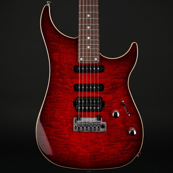 Vigier Excalibur Ultra Blues HSS, Rosewood in Mysterious Red with Case #190078