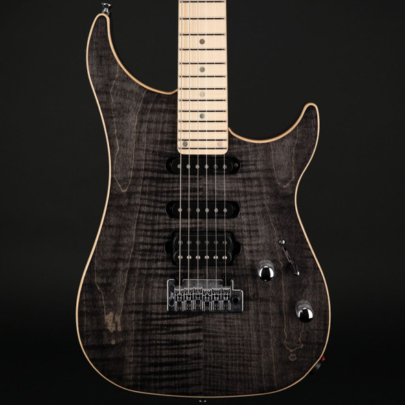 Vigier Excalibur Ultra Blues HSS, Maple in Black Diamond with Case #180234