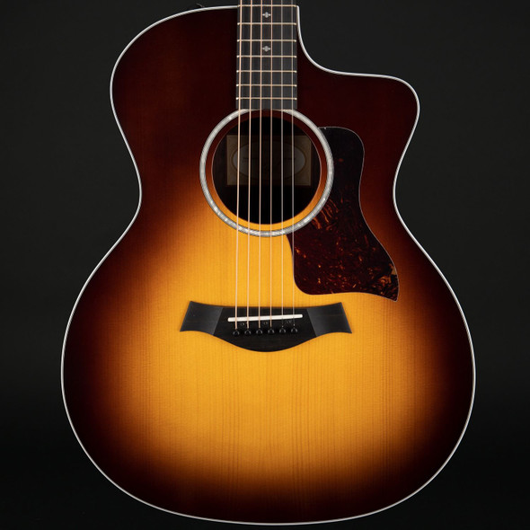 Taylor 214ce-SB DLX Deluxe Grand Auditorium Cutaway Electro Acoustic in Sunburst with Case