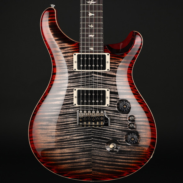 PRS Custom 24 35th Anniversary in Charcoal Cherry Burst with Pattern Thin Neck #0301636