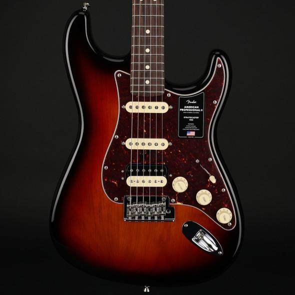 Fender American Professional II Stratocaster HSS, Rosewood Fingerboard in  3-Color Sunburst #US20067862