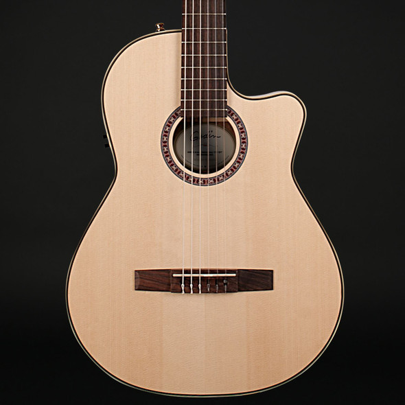 Godin Arena Mahogany CW QIT Thinline Classical in Natural
