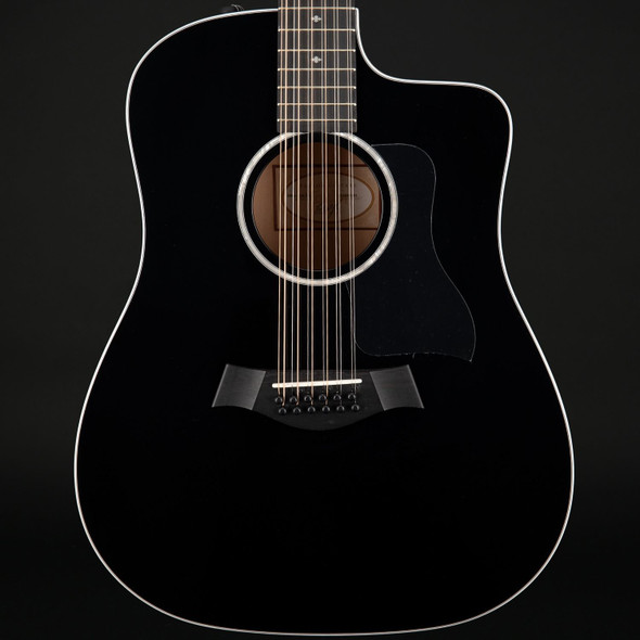 Taylor Custom 250ce BLK DLX 12-String Electro Acoustic in Black #2110219391 - Pre-Owned