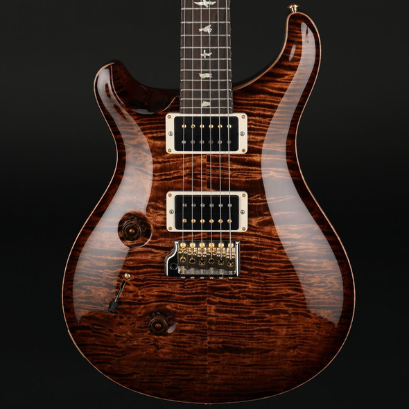 PRS Wood Library Custom 24 10-Top Left Handed in Copperhead Burst, Ziricote Fingerboard #0309494