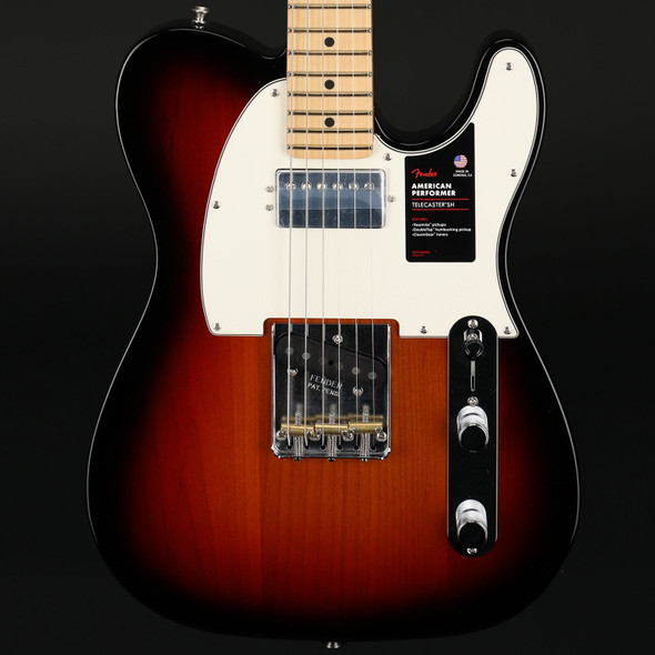 Fender American Performer Telecaster with Humbucker, Maple Fingerboard in 3-Color Sunburst