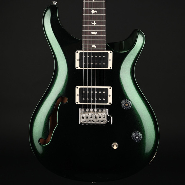 PRS CE24 Semi-Hollow in Custom Colour Green Metallic with Blackout Neck #0318381
